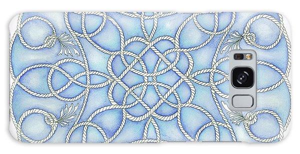 Blue Nautical Mandala 2 Galaxy Case