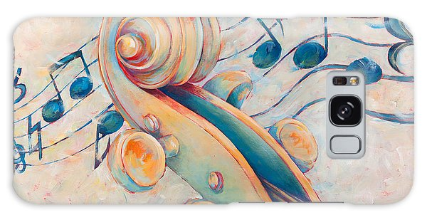 Violin Galaxy Case - Blue Notes by Susanne Clark