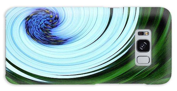 Blue On Flower Galaxy Case