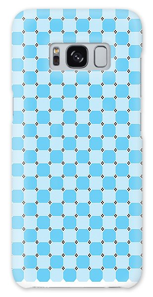 Blue Optical Illusion Galaxy Case
