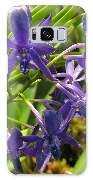Blue Orchid Galaxy Case