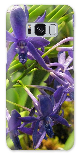 Blue Orchid Galaxy Case
