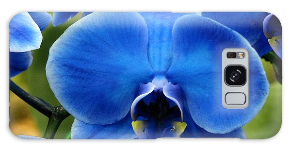 Blue Orchid Galaxy Case by Peg Urban