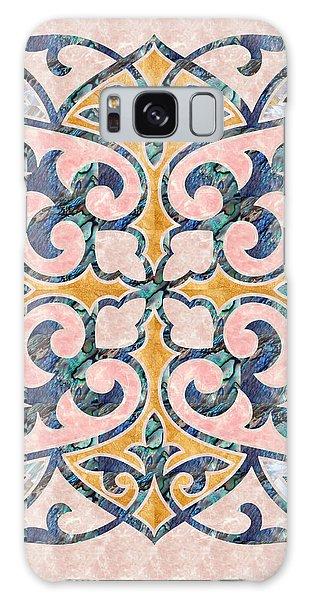 Blue Oriental Tile 01 Galaxy Case
