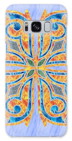 Blue Oriental Tile 02 Galaxy Case