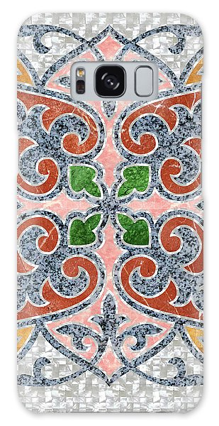 Blue Oriental Tile 03 Galaxy Case