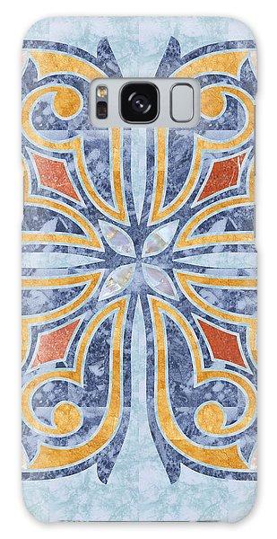 Blue Oriental Tile 04 Galaxy Case