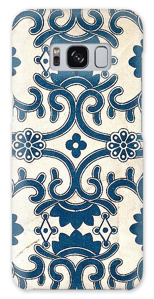 Blue Oriental Vintage Tile 02 Galaxy Case