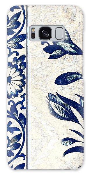 Blue Oriental Vintage Tile 03 Galaxy Case