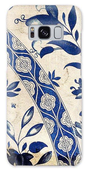 Blue Oriental Vintage Tile 04 Galaxy Case