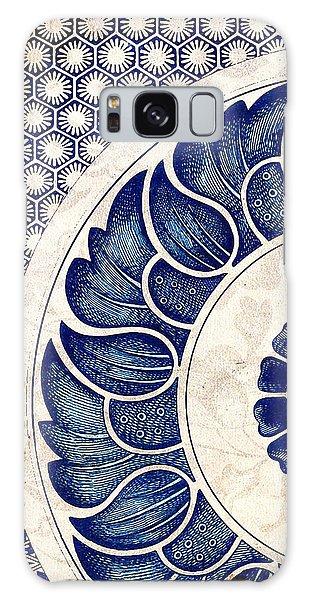 Blue Oriental Vintage Tile 05 Galaxy Case