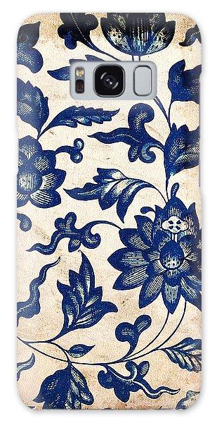 Blue Oriental Vintage Tile 06 Galaxy Case