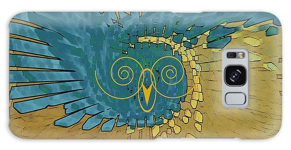 Abstract Blue Owl Galaxy Case by Ben and Raisa Gertsberg