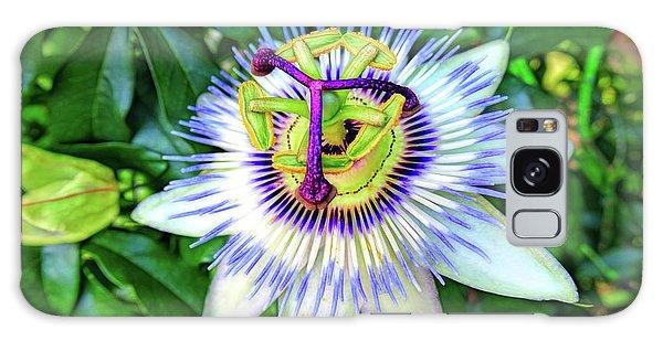 Blue Passion Flower Galaxy Case