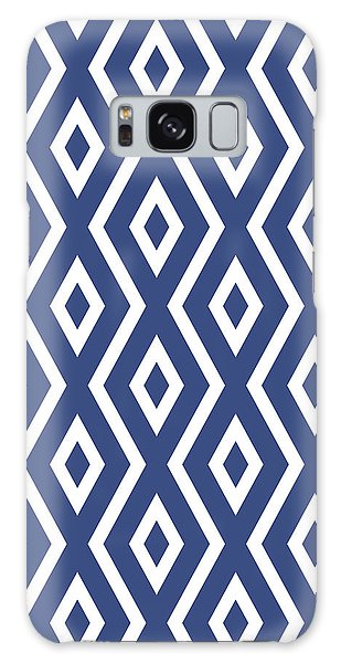 Galaxy Case - Blue Pattern by Christina Rollo