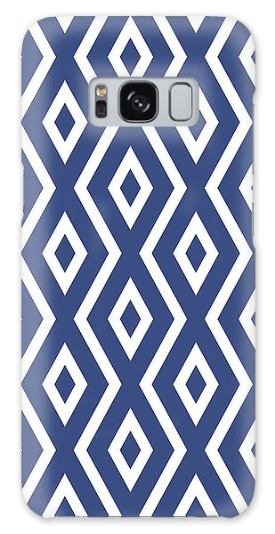 Art Nouveau Galaxy Case - Blue Pattern by Christina Rollo