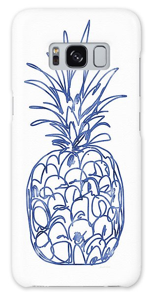 Blue Pineapple- Art By Linda Woods Galaxy Case