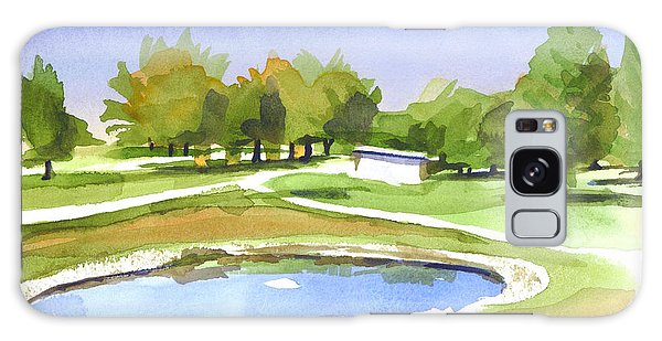 Blue Pond At The A V Country Club Galaxy Case by Kip DeVore