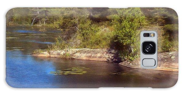 Blue Pond Marsh Galaxy Case