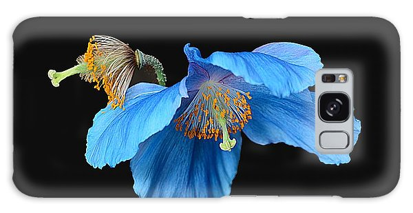 Blue Poppies Galaxy Case by Cindy Manero