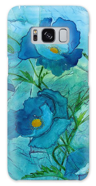 Blue Poppies, Watercolor On Yupo Galaxy Case