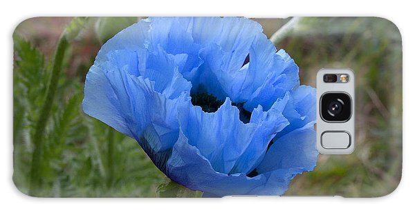 Blue Poppy Galaxy Case