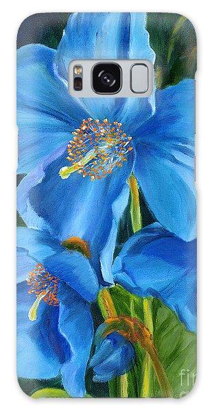 Blue Poppy Galaxy Case by Renate Nadi Wesley