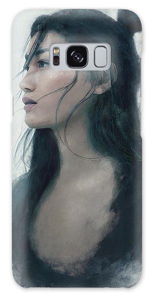 Female Galaxy Case - Blue Portrait by Eve Ventrue