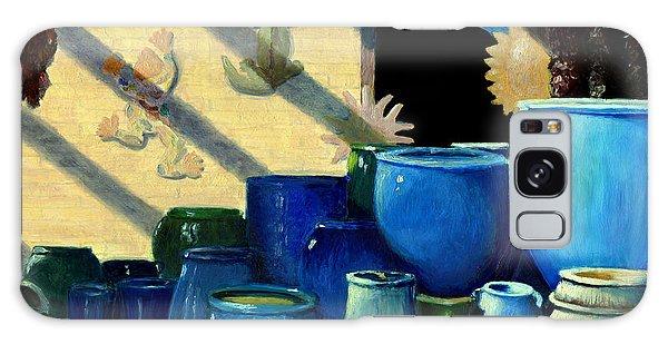 Blue Pots Galaxy Case by Karyn Robinson