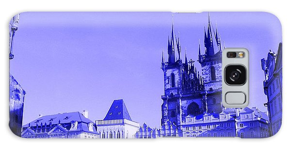 Galaxy Case featuring the photograph Blue Praha by Michelle Dallocchio