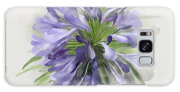 Blue Purple Flowers Galaxy Case by Ivana Westin