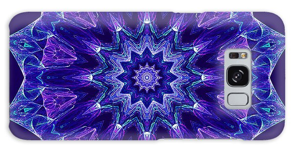 Blue And Purple Mandala Fractal Galaxy Case