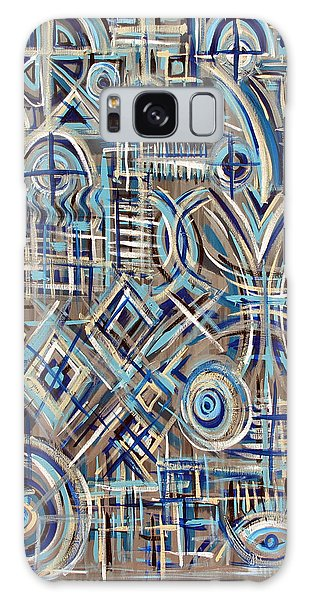 Blue Raucous Galaxy Case