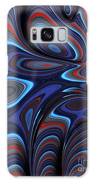Blue Red Folds Galaxy Case
