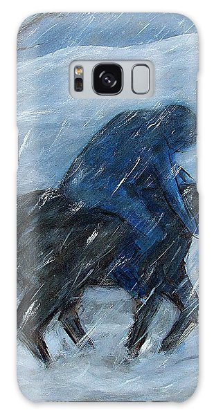 Blue Rider On Horse Galaxy Case