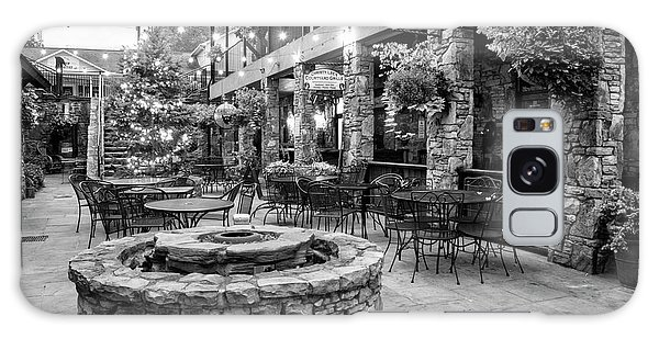 Blue Ridge Courtyard In Black And White Galaxy Case