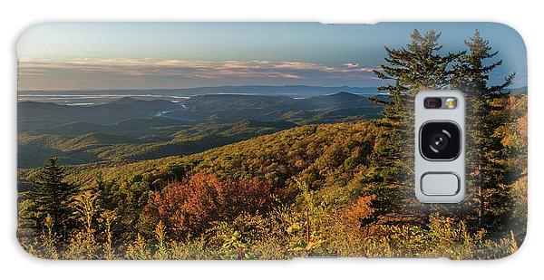 Blue Ridge Mountain Autumn Vista Galaxy Case