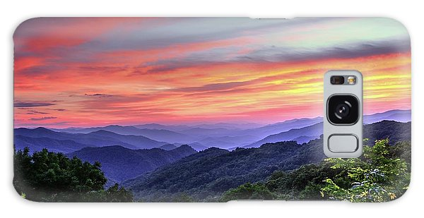 Blue Ridge Mountain Color Galaxy Case