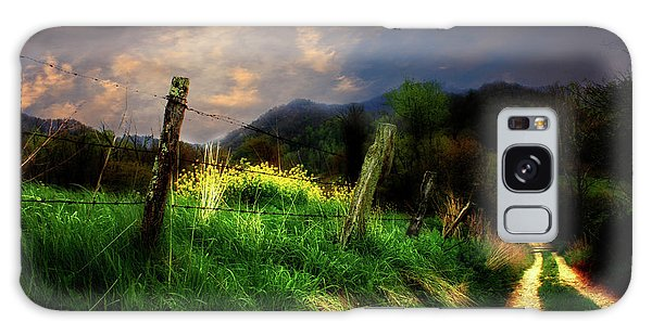 Blue Ridge Mountain Country Road Galaxy Case by Gray  Artus