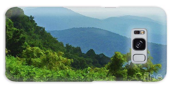 Blue Ridge Mountain Layers Galaxy Case