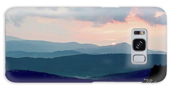 Blue Ridge Mountain Sunset Galaxy Case