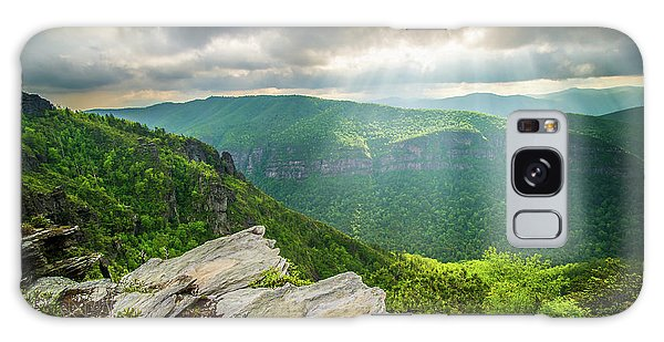 Chasm Galaxy Case - Blue Ridge Mountains Nc Gorge-ous Light by Robert Stephens