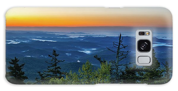 Blue Ridge Mountains Sunrise Galaxy Case