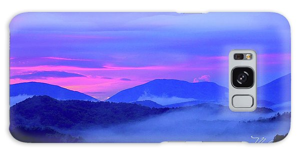 Blue Ridge Mountains Sunset Galaxy Case