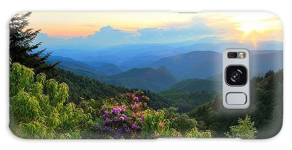 Blue Ridge Parkway And Rhododendron  Galaxy Case