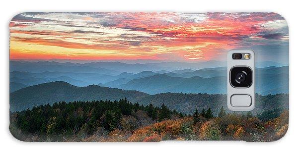 Blue Ridge Parkway Autumn Sunset Scenic Landscape Asheville Nc Galaxy Case