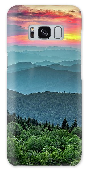 Sunset Galaxy Case - Blue Ridge Parkway Sunset - The Great Blue Yonder by Dave Allen