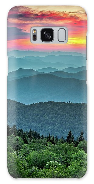 Outdoors Galaxy Case - Blue Ridge Parkway Sunset - The Great Blue Yonder by Dave Allen