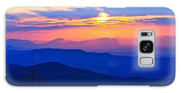 Blue Ridge Parkway Sunset, Va Galaxy Case by The American Shutterbug Society