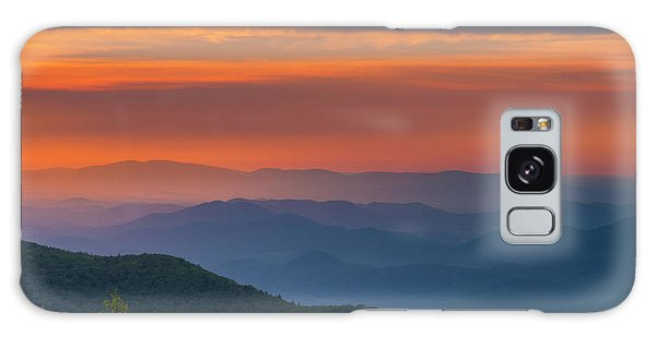 Blue Ridge Sunrise At Wintergreen  Galaxy Case